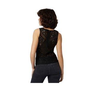 Topshop Tops - Black Lace Sheer TopShop tank